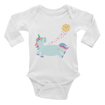 Loving Unicorn Infant Long Sleeve Bodysuit
