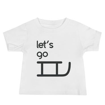 Let's Go Sledding Baby Jersey Short Sleeve Tee