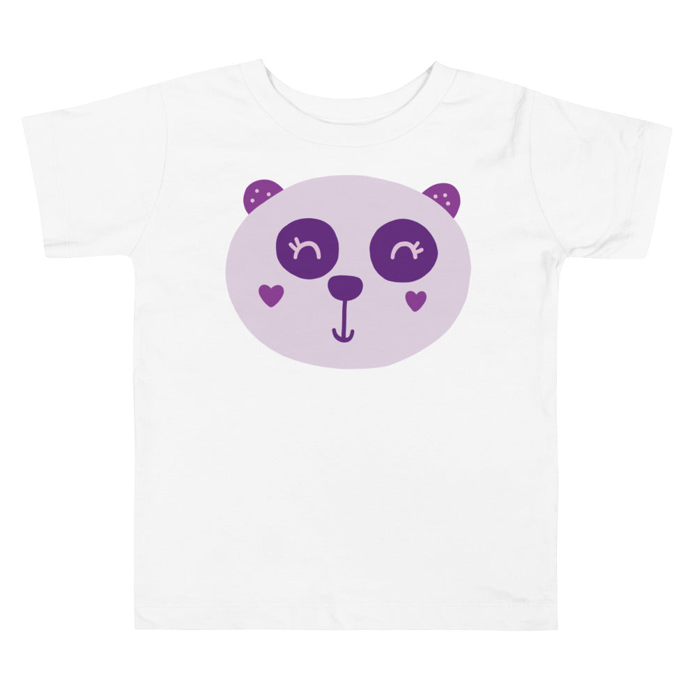 Purple Panda Toddler Short Sleeve Tee
