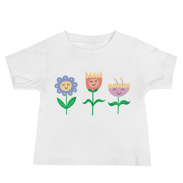 Smiling Flowers Baby Jersey Short Sleeve Tee