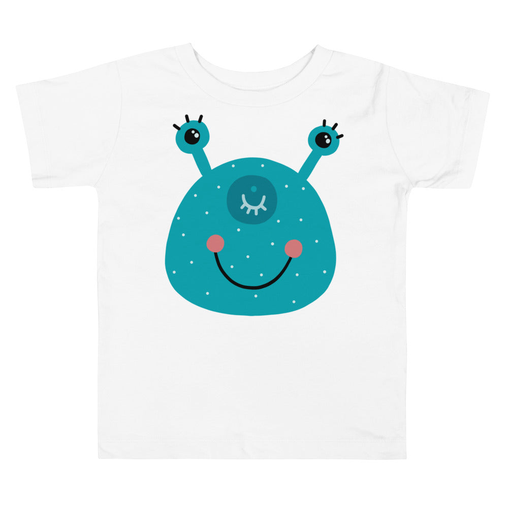 Smiling Monster Toddler Short Sleeve Tee