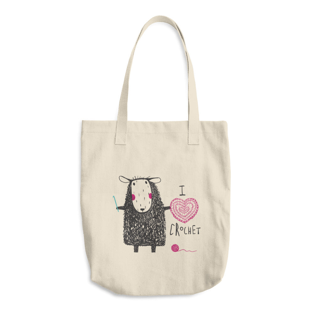 I Heart Crochet Tote Bag