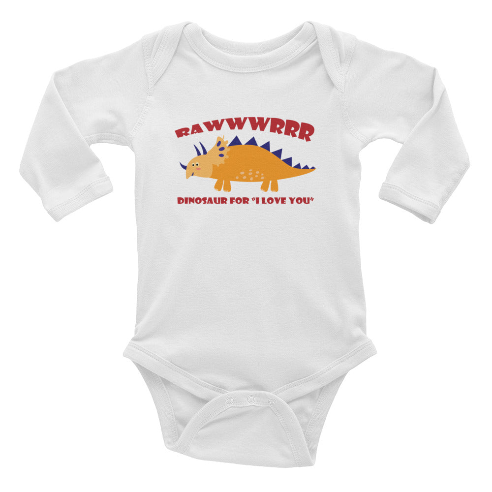 RAWWWRRR Love Infant Long Sleeve Bodysuit