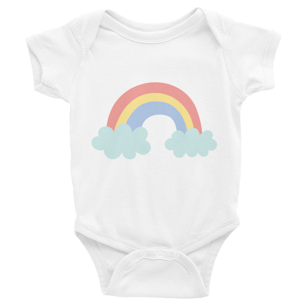 Red - Yellow - Blue Pastel Rainbow Infant Bodysuit