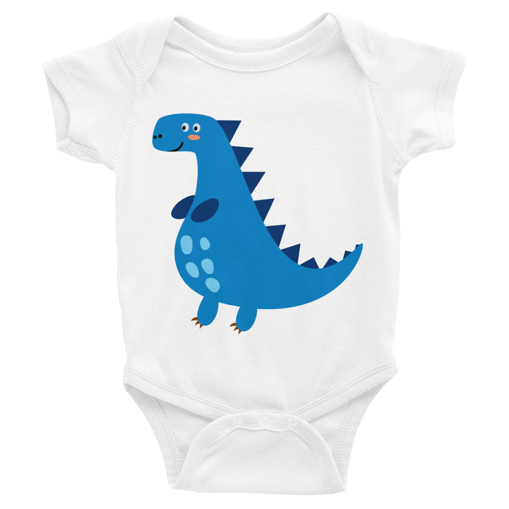 Blue Dinosaur Infant Bodysuit