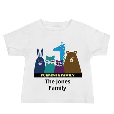 FURRever Family Personalized Baby Jersey Short Sleeve Tee