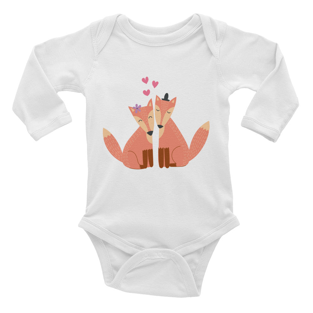 Fox Couple Infant Long Sleeve Bodysuit