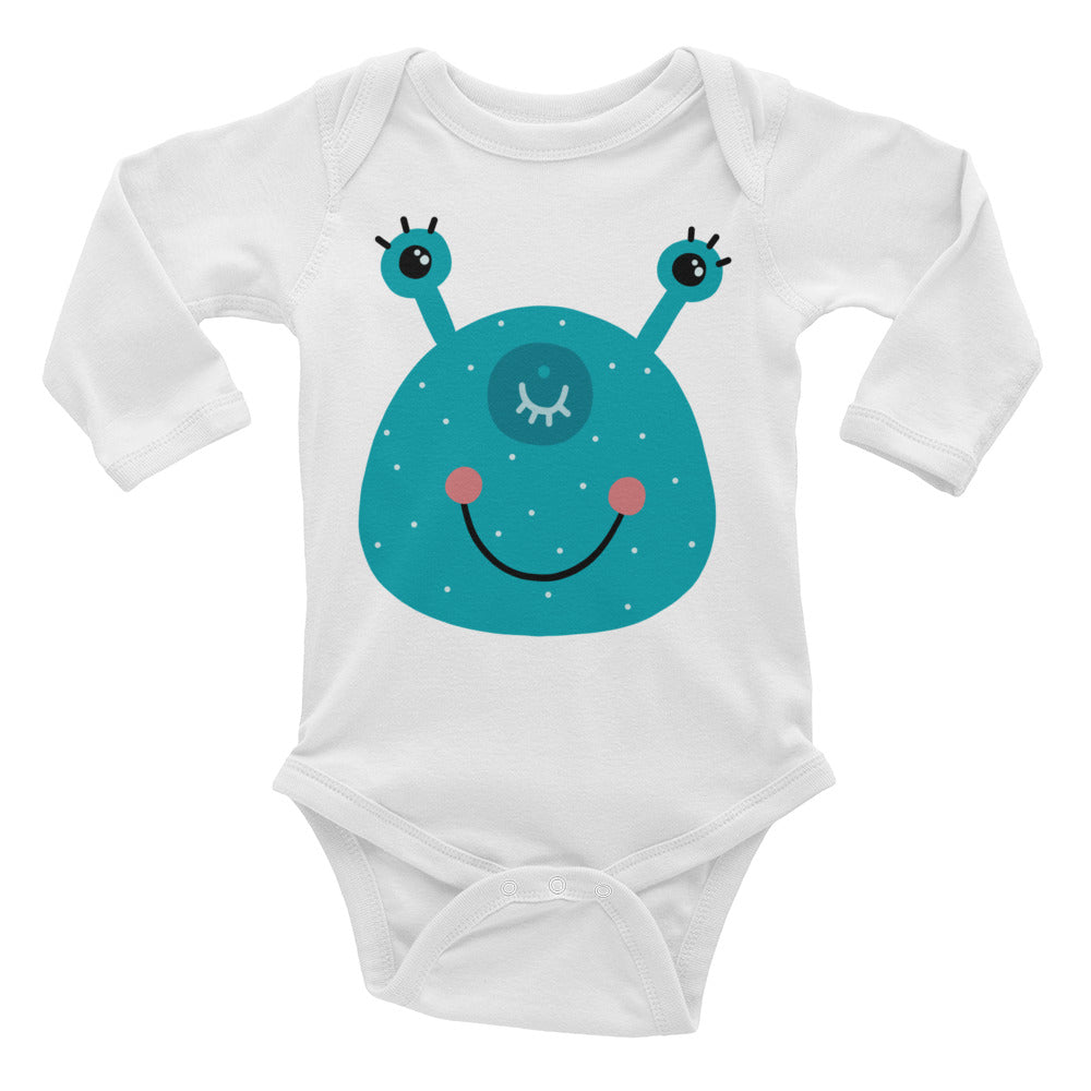 Smiling Monster Infant Long Sleeve Bodysuit