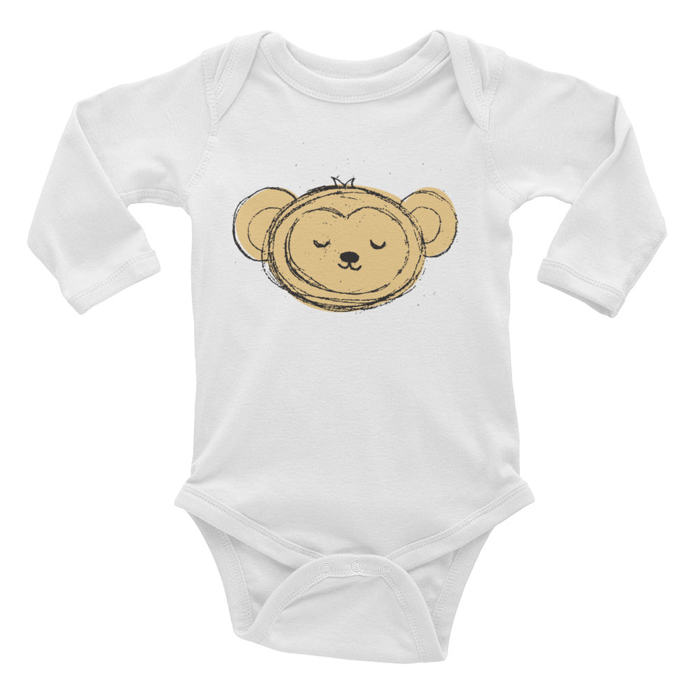 Monkey Infant Long Sleeve Bodysuit