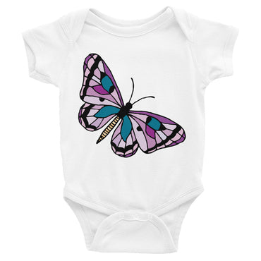 Purple Butterfly Infant Onesie Bodysuit