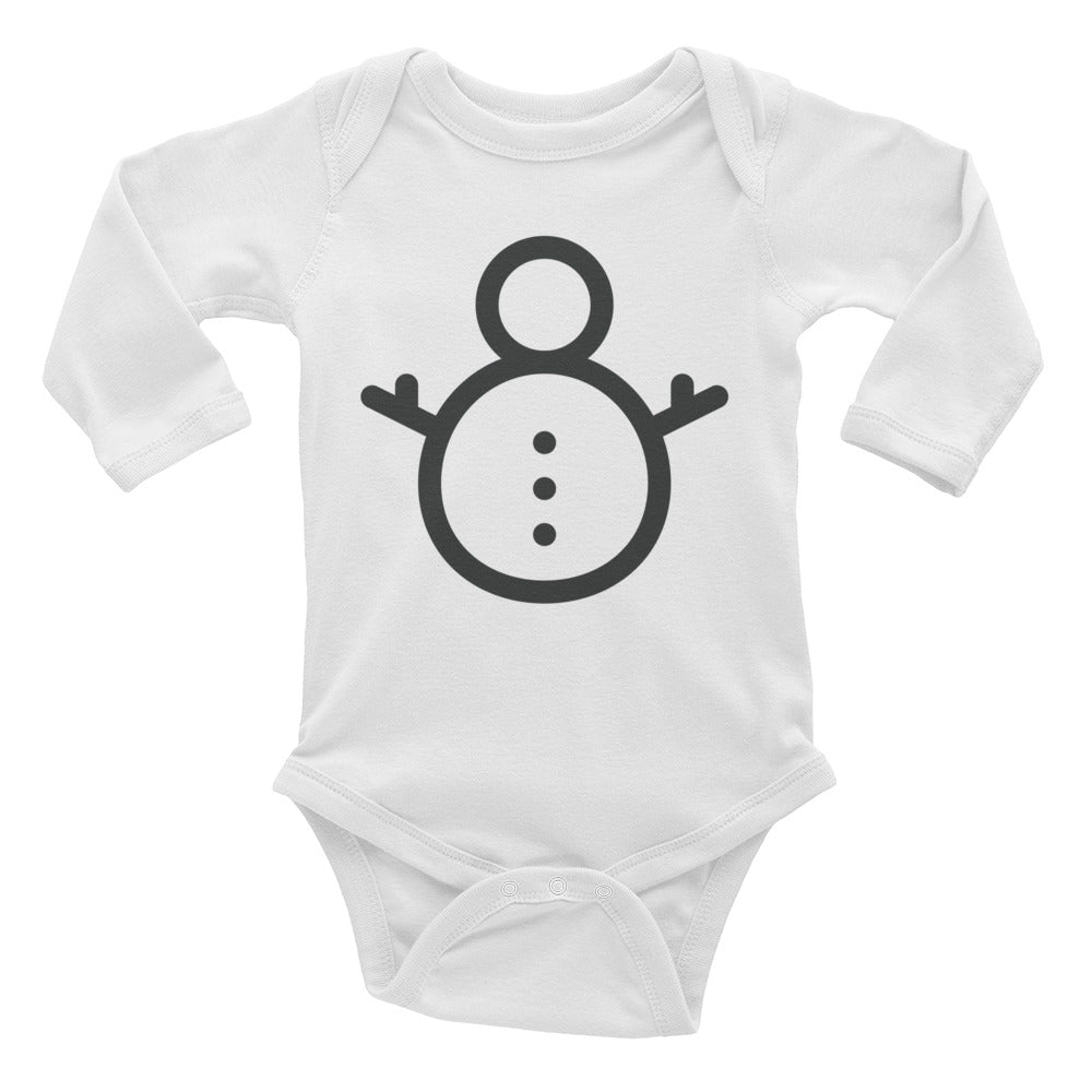 Snowperson Infant Long Sleeve Bodysuit