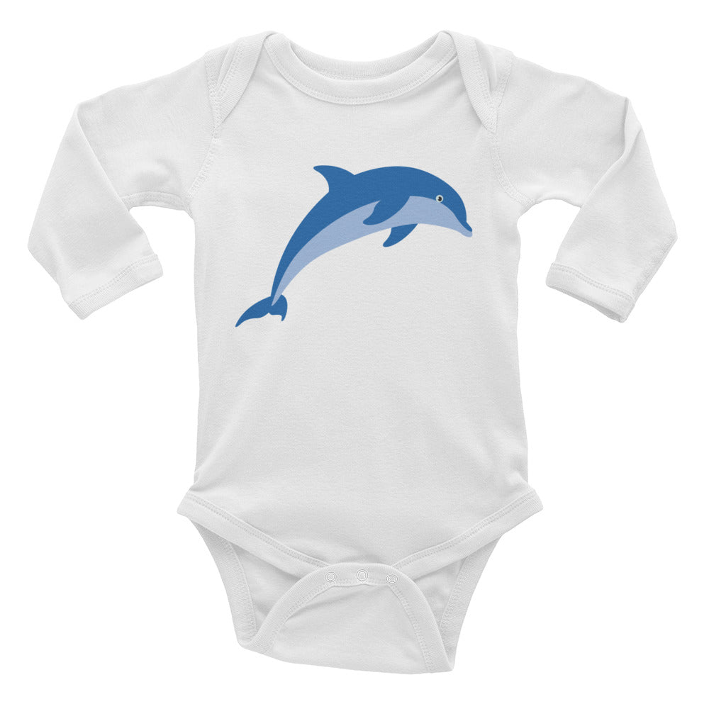 Jumping Dolphin Infant Long Sleeve Bodysuit