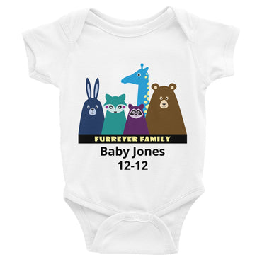 FURRever Family Personalized Infant Onesie Bodysuit