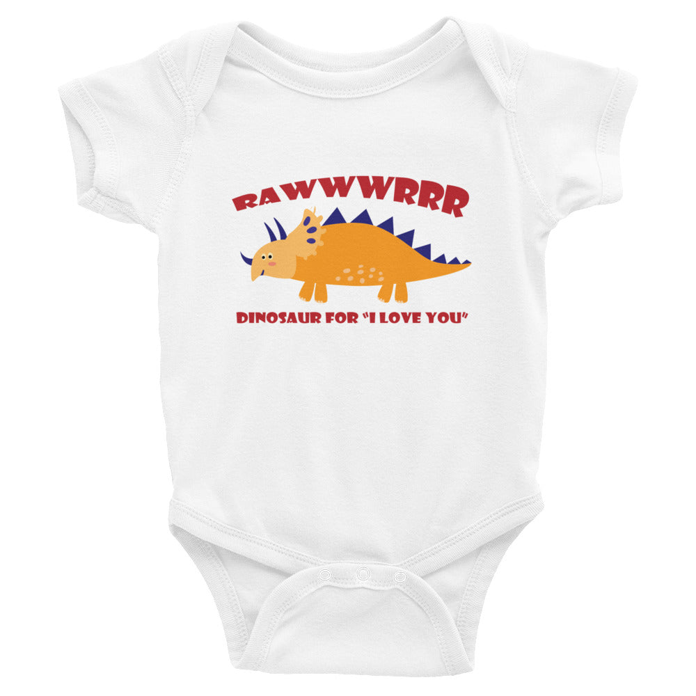 RAWWWRRR Love Infant Bodysuit