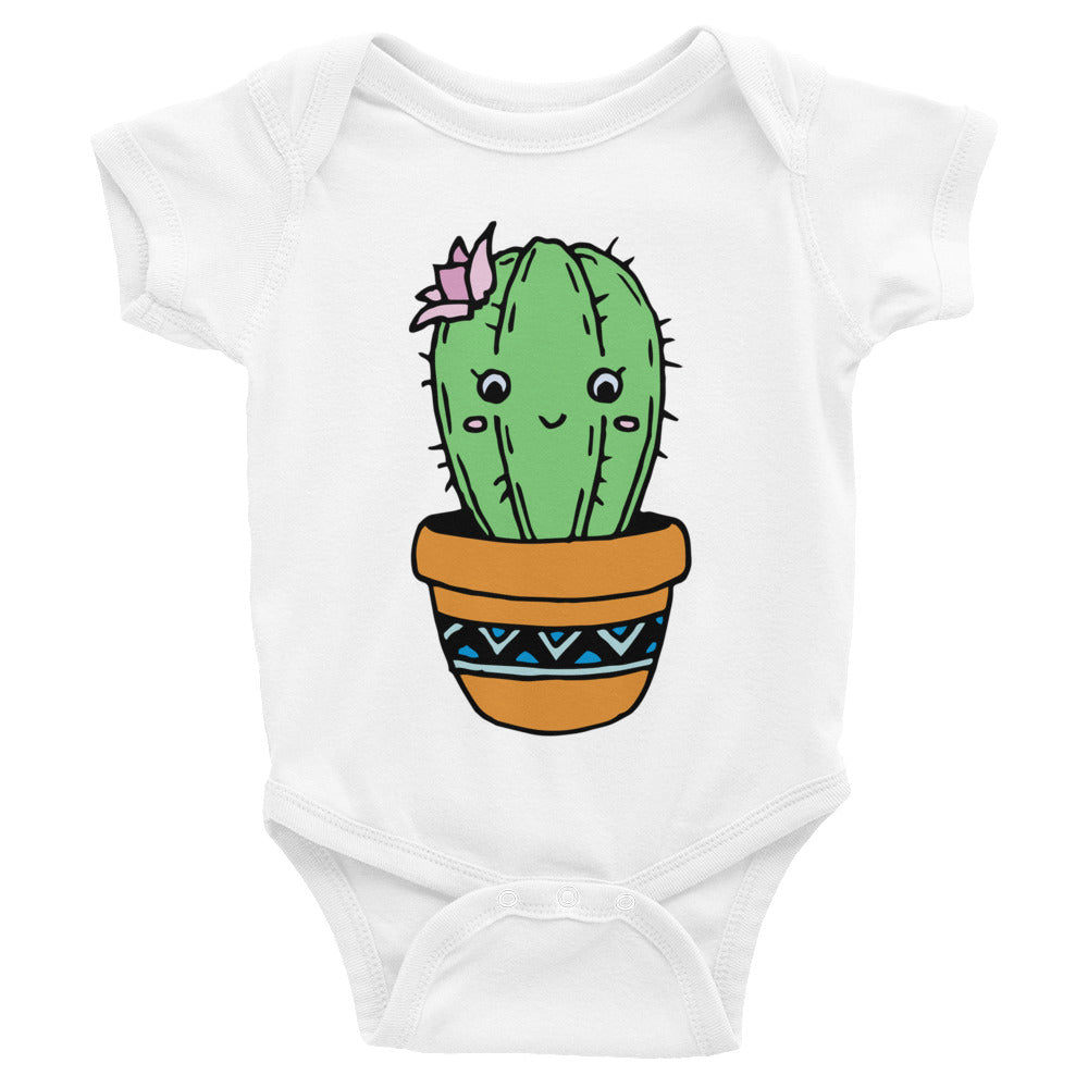Smiling Cactus Infant Onesie Bodysuit
