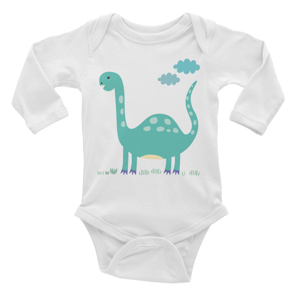 Brontosaurus Infant Long Sleeve Bodysuit