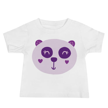 Purple Panda Baby Jersey Short Sleeve Tee