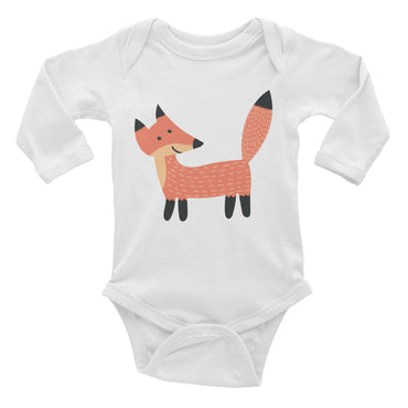 Smiling Fox Infant Long Sleeve Bodysuit