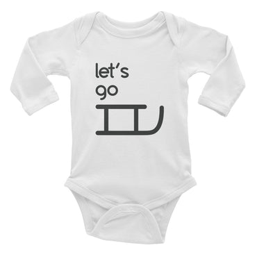 Let's Go Sledding Infant Onesie Long Sleeve Bodysuit