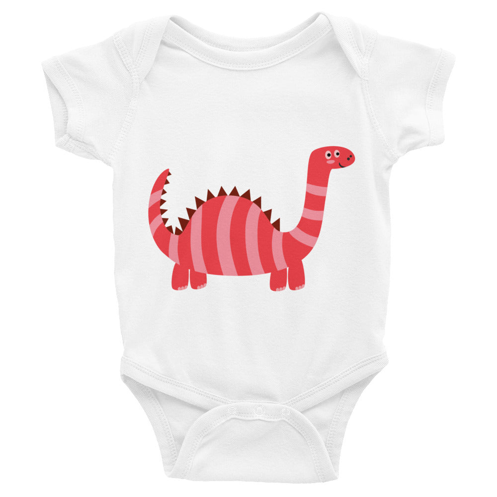 Red Dinosaur Infant Bodysuit