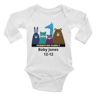 FURRever Family Personalized Infant Long Sleeve Bodysuit