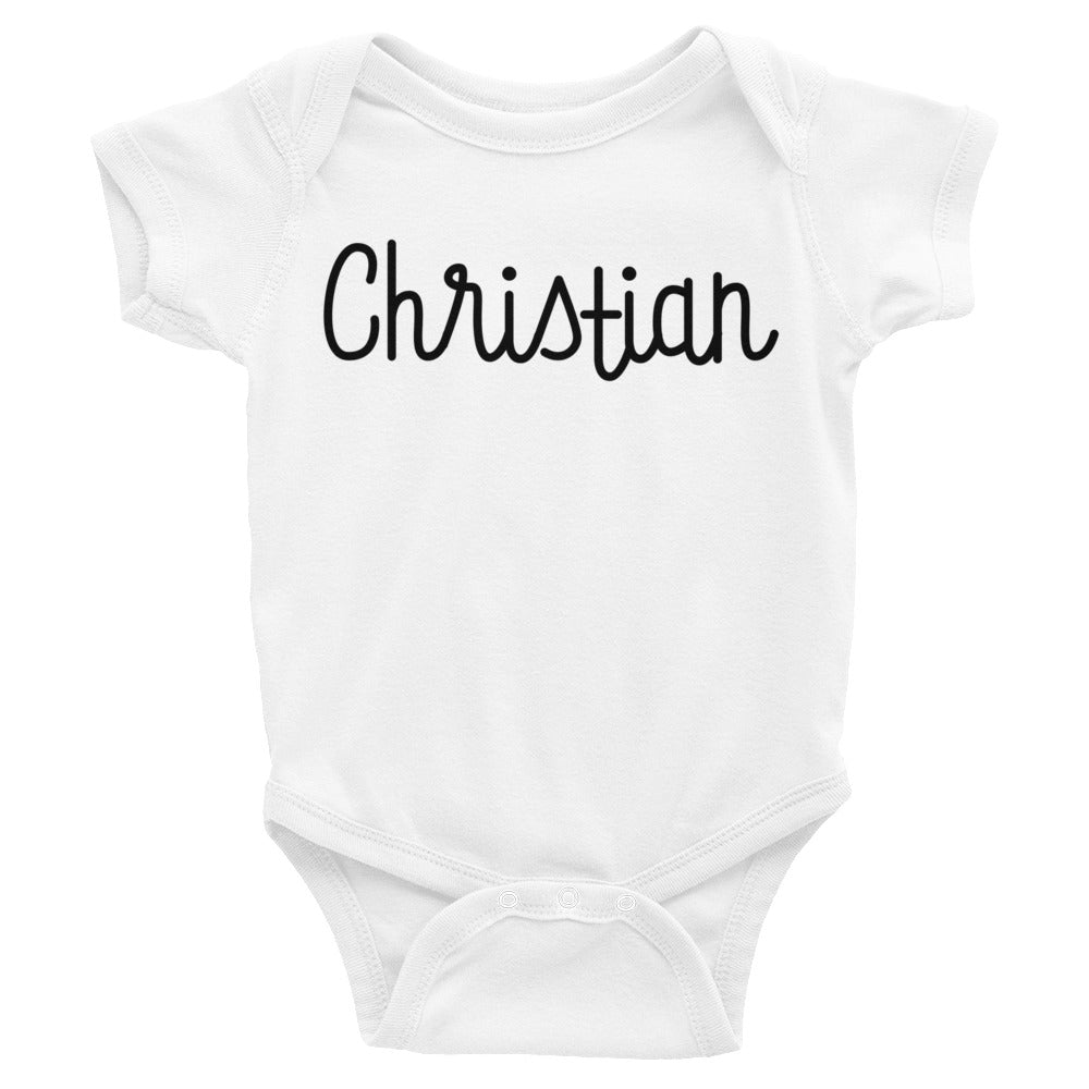 Christian Infant Baby Onesie Bodysuit