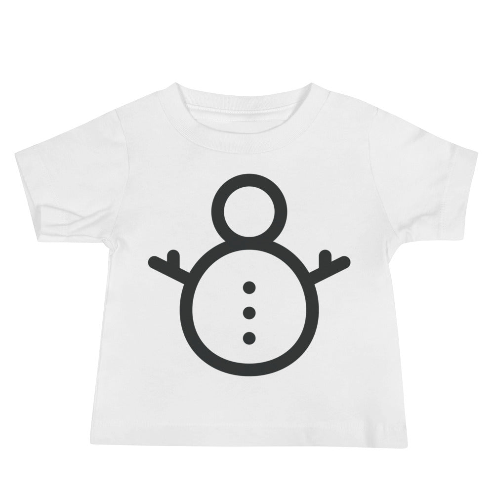 Snowperson Baby Jersey Short Sleeve Tee
