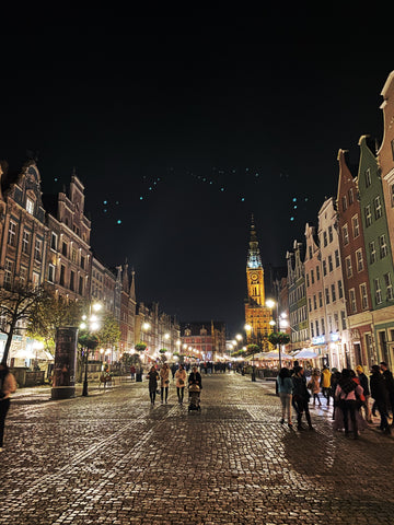 Gdansk, Poland at night
