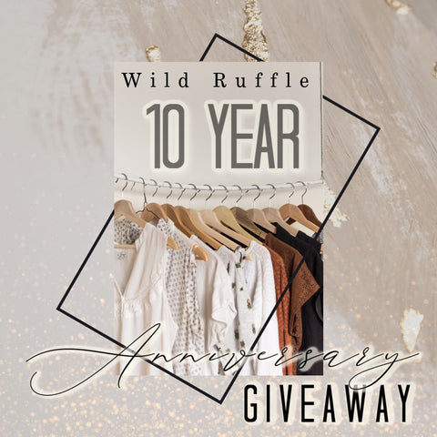 10 year anniversary giveaway from Wild Ruffle