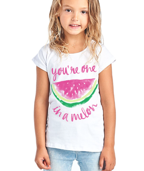 You're One in a Melon Tee for Girls