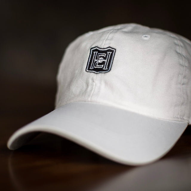 Hat - White with Black Logo