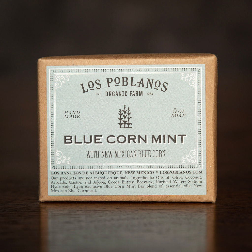 Los Poblanos Bar Soap - Blue Corn Mint