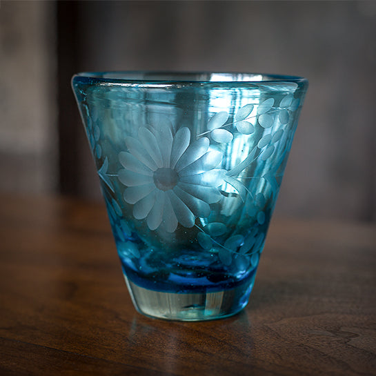 Etched Glass - Turquoise