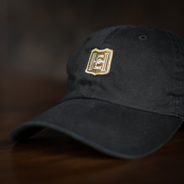 Hat - Black with Gold Logo