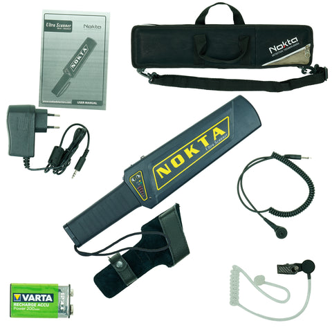 Nokta Makro Ultra Scanner Pro Package w/ Carry Bag Earphone, Charger, and More
