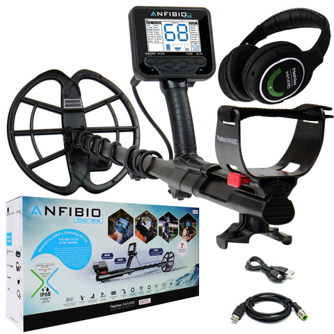 Nokta Makro Anfibio 14 kHz Underwater Metal Detector with Wireless Headphones