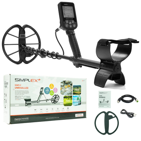 "Nokta Makro Simplex+ Waterproof Metal Detector with 11"" DD Coil"