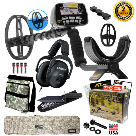 Garrett AT Gold Adventure Pack Coil Camo Bag Pouch Edge Digger MS-2 Headphones