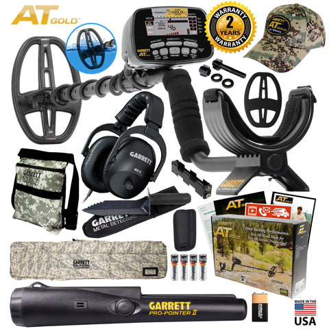 Garrett AT Gold Spring Pack Pro-Pointer II Bag Pouch Digger MS-2 Headphones Cap