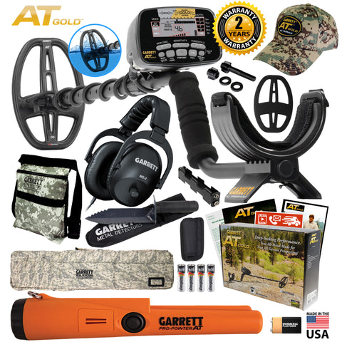 Garrett AT Gold Spring Pack AT Pinpointer Bag Pouch Digger MS-2 Headphones Cap