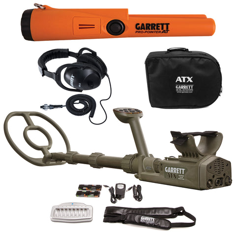 Garrett ATX Extreme Pulse Induction Metal Detector & Pro Pointer AT Pinpointer