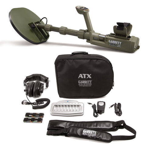 "Garrett ATX Extreme Pulse Induction Metal Detector with 11x13"" DD Closed coil"