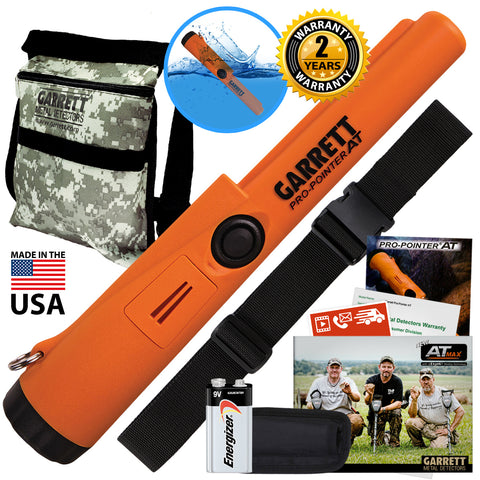 Garrett Pro Pointer AT Pinpointer Waterproof ProPointer with Camo Pouch and Belt