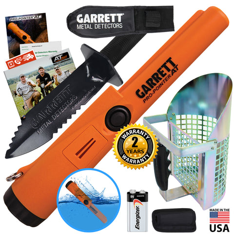 Garrett Pro Pointer AT Pinpointer with Garrett Edge Digger & Anodized Sand Scoop