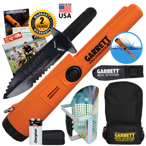 Garrett Pro Pointer AT Pinpointer with Backpack, Edge Digger & Anodized Scoop