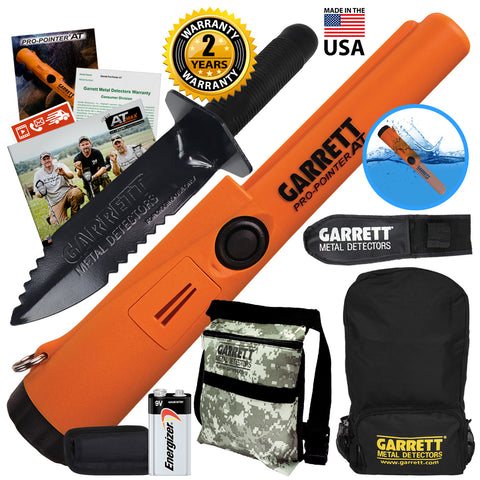 Garrett ProPointer AT Waterproof Pinpointer with Pouch, Edge Digger & Backpack