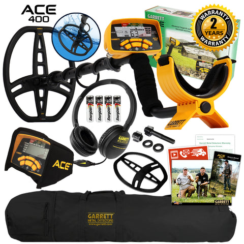 Garrett ACE 400 Metal Detector with ClearSound Headphones and Carry Bag