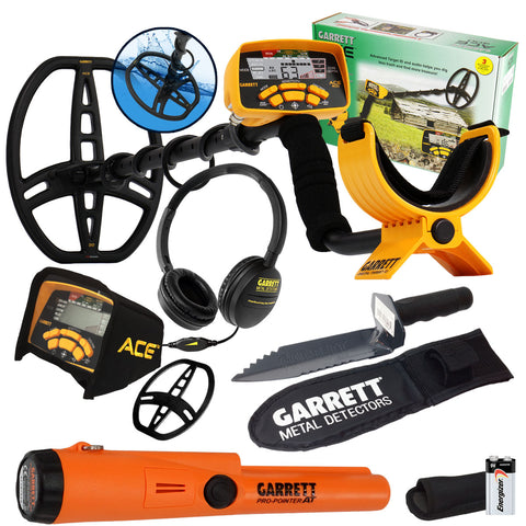 Garrett ACE 400 Metal Detector Pro-Pointer AT Pinpointer & Edge Digger