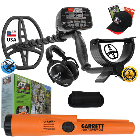 Garrett AT MAX Waterproof Metal Detector Special with Pro Pointer AT Z-Lynk