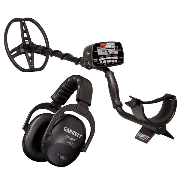Garrett AT MAX Detector, MS-3 Headphones, Pro-Pointer AT Z-Lynk, Digger & Pouch